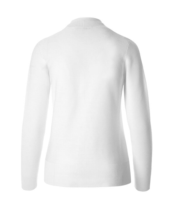 White Topper Sweater, White, hi-res