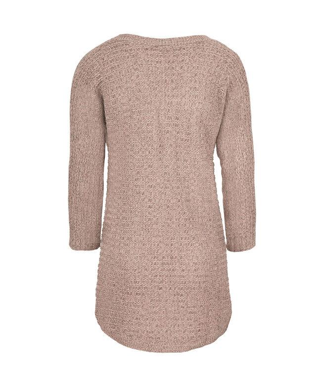Ribbed V-Neck Sweater, Black/Pink, hi-res