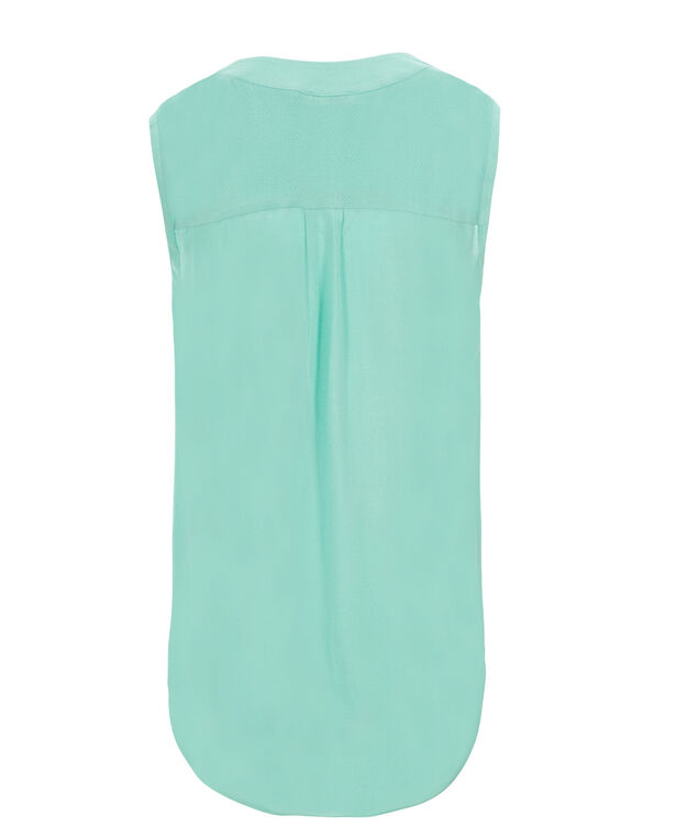 Henley Blouse Tank, Light Turquoise, hi-res