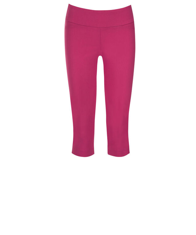 Microtwill Super Slim Leg Capri, Vibrant Pink, hi-res