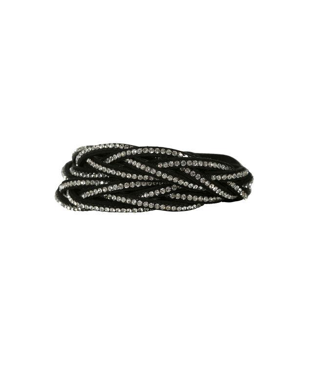 Twisted Wrap Bracelet, Black, hi-res
