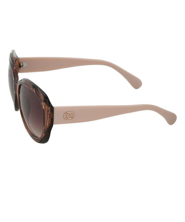 Circle Arm Detail Sunglasses, Brown/Beige, hi-res