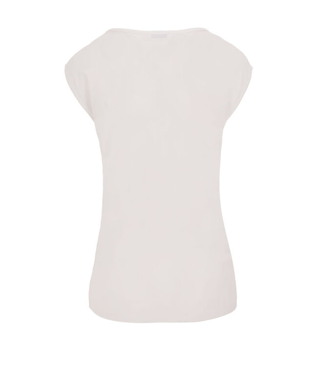 Extended Sleeve Lace Detail Top, True White, hi-res