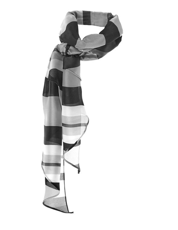Black Print Kite Scarf, Black, hi-res