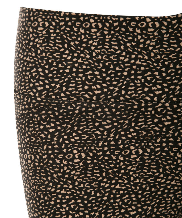 Microtwill Ankle Super Slim Leg, Black/Taupe Print, hi-res