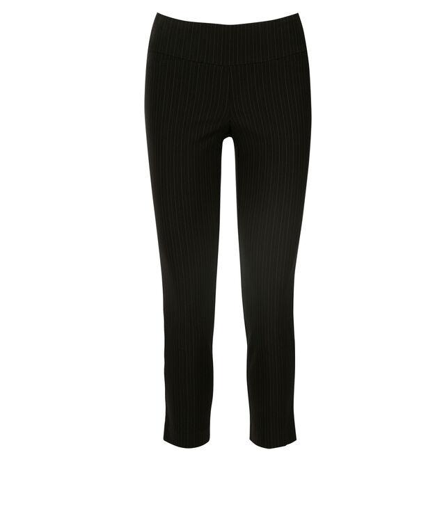Microtwill Crop Super Slim Leg, Black Pinstripe, hi-res