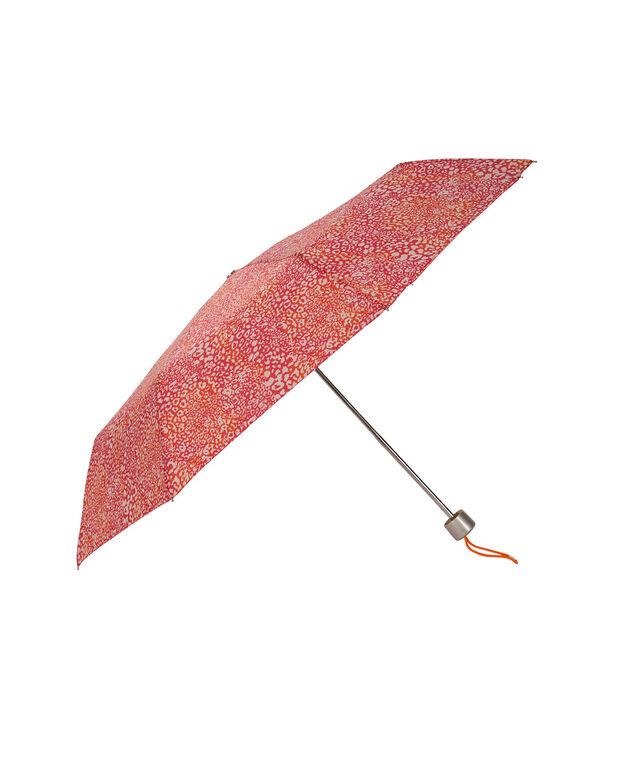Pink Leopard Print Umbrella, Pink/Orange, hi-res