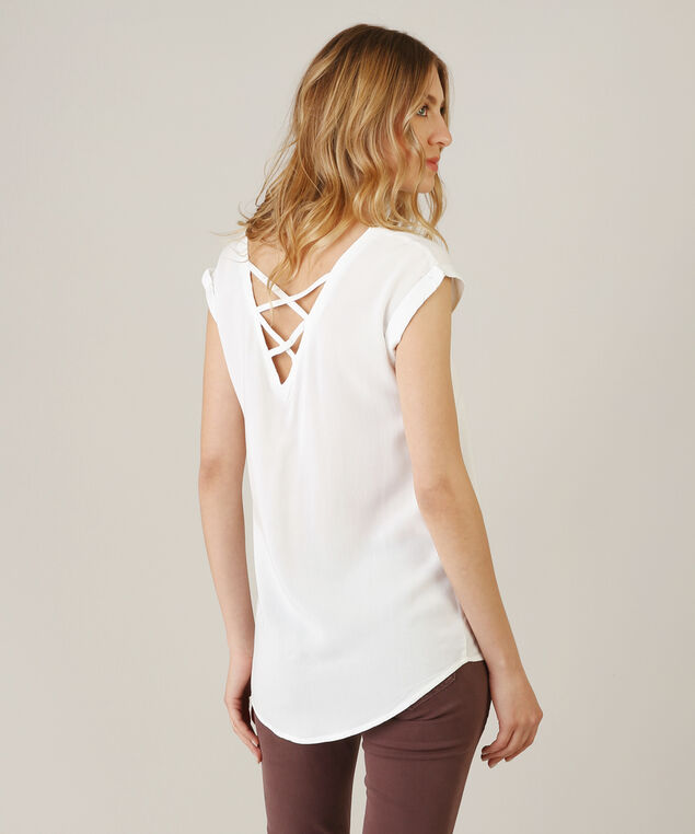 criss cross back top, WHITE, hi-res