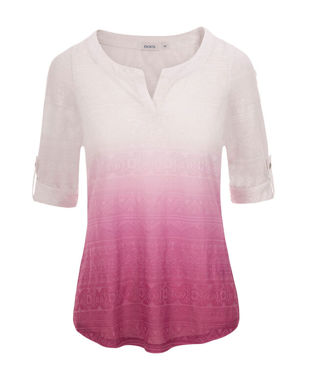 Dip Dye Burn Out Top, Mid Violet, hi-res