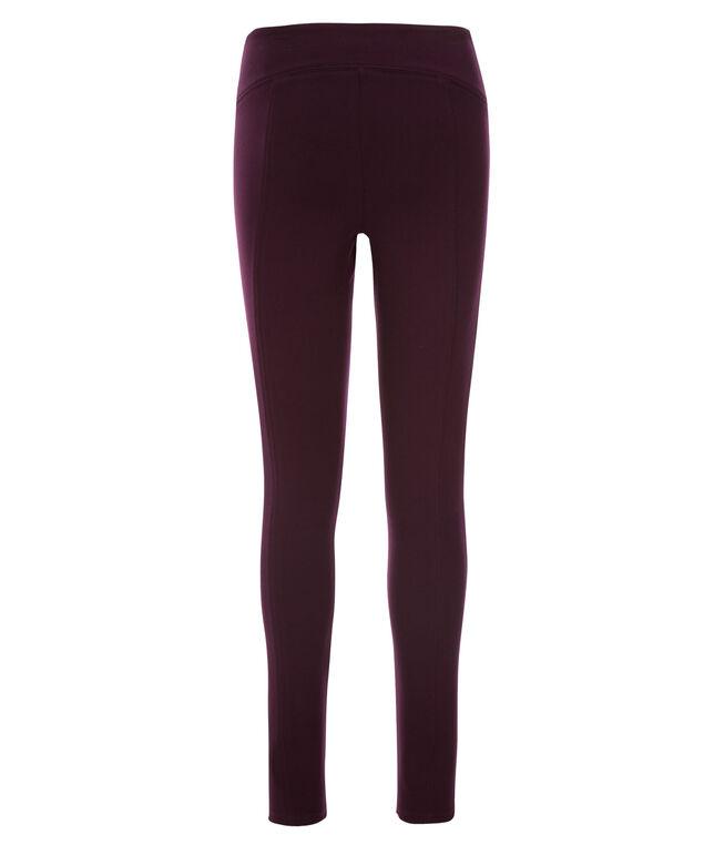 Luxe Ponte Instant Smooth Legging - Long, Dark Plum, hi-res