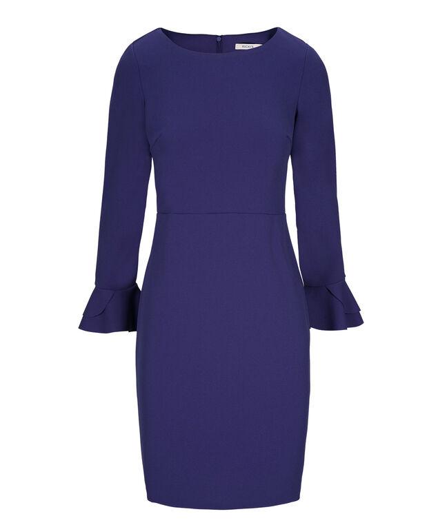 Blue Bell Sleeve Dress, Cobalt, hi-res