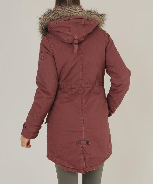parka with fur trim - wb, BRN/PINK, hi-res