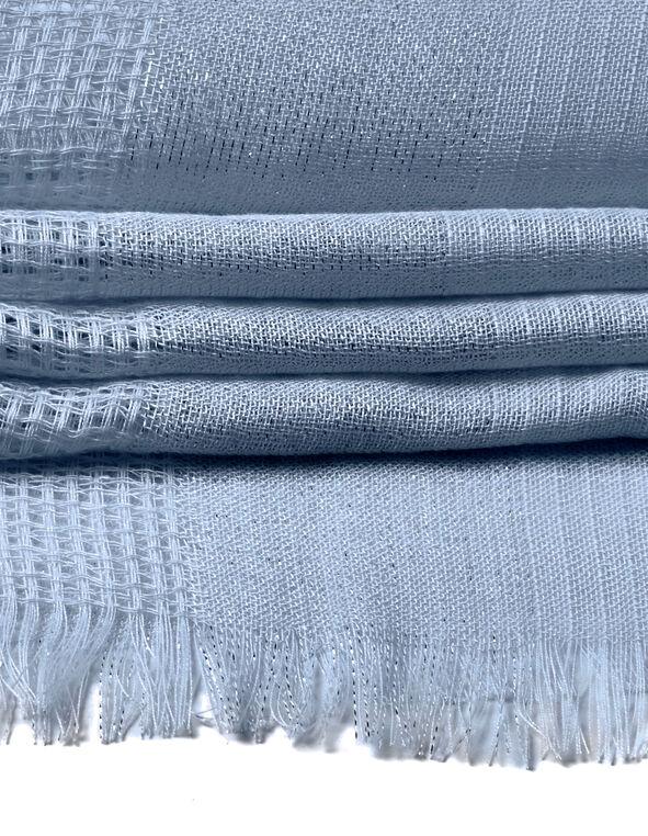 Washed Blue Waffle Knit Scarf, Washed Blue, hi-res