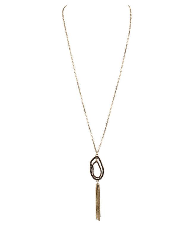 Crystal Teardrop Pendant Necklace, Amethyst/Antique Gold, hi-res