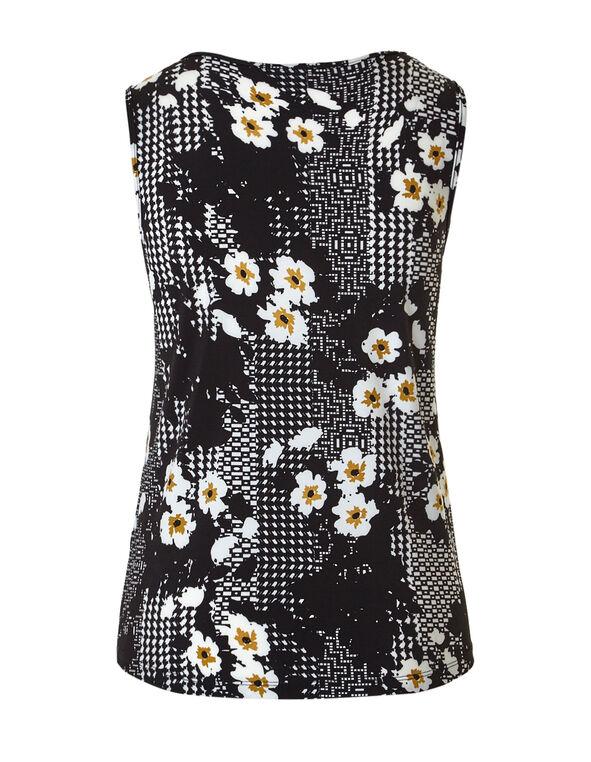 Saffron Floral Chain Top, Black/Saffron/Ivory, hi-res
