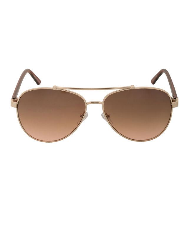 Aviator Sunglasses, Brown/Gold, hi-res