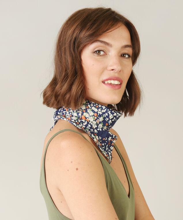 floral bandana, BLUE, hi-res