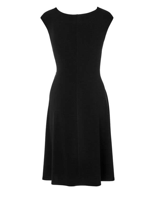 Black Side Knot Dress, Black, hi-res