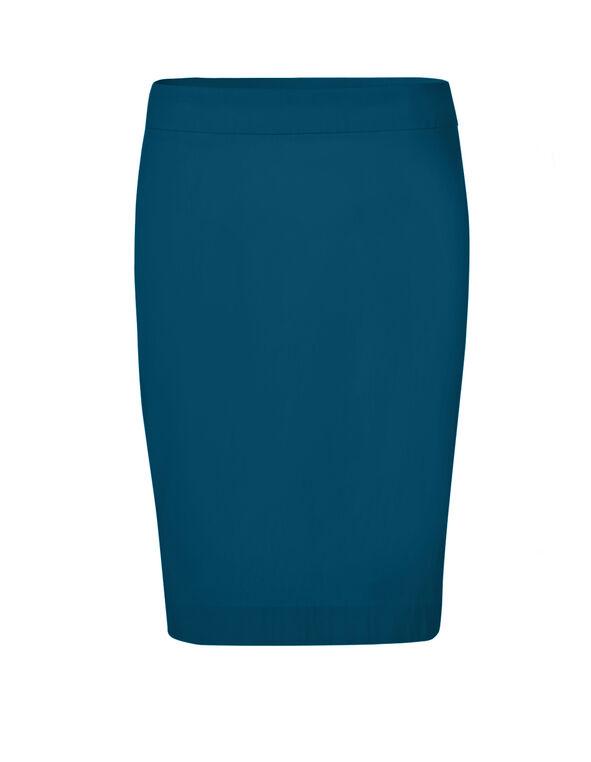 Turquoise Signature Pencil Skirt, Dark Turquoise, hi-res