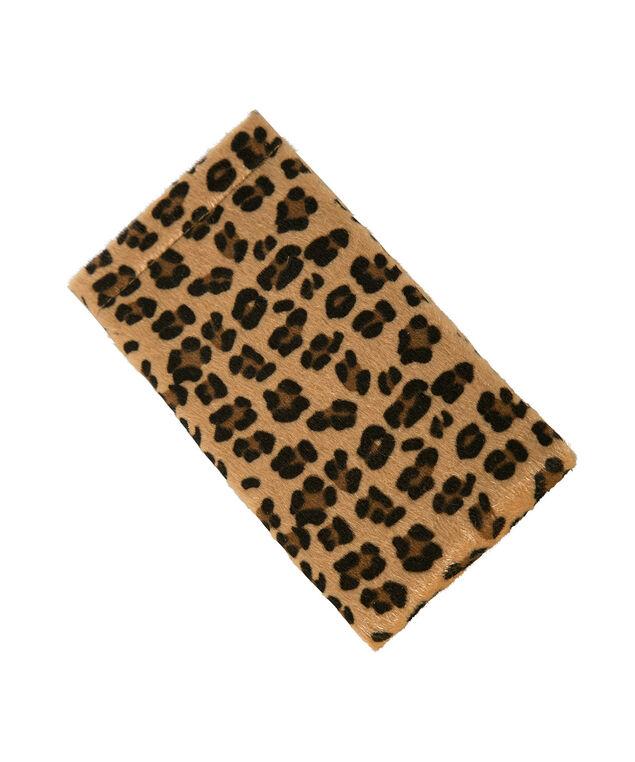 Leopard Print Sunglass Case, Brown Print, hi-res