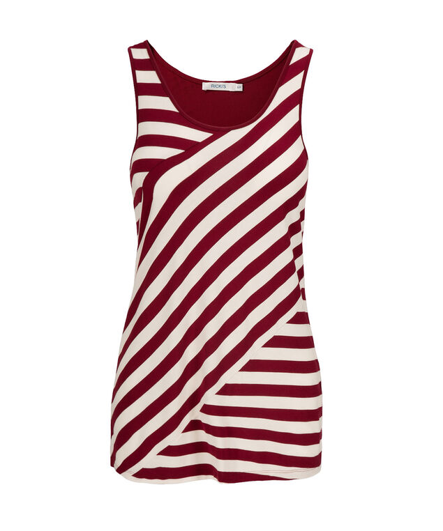 Spliced Stripe Tank, Cranberry Pattern, hi-res