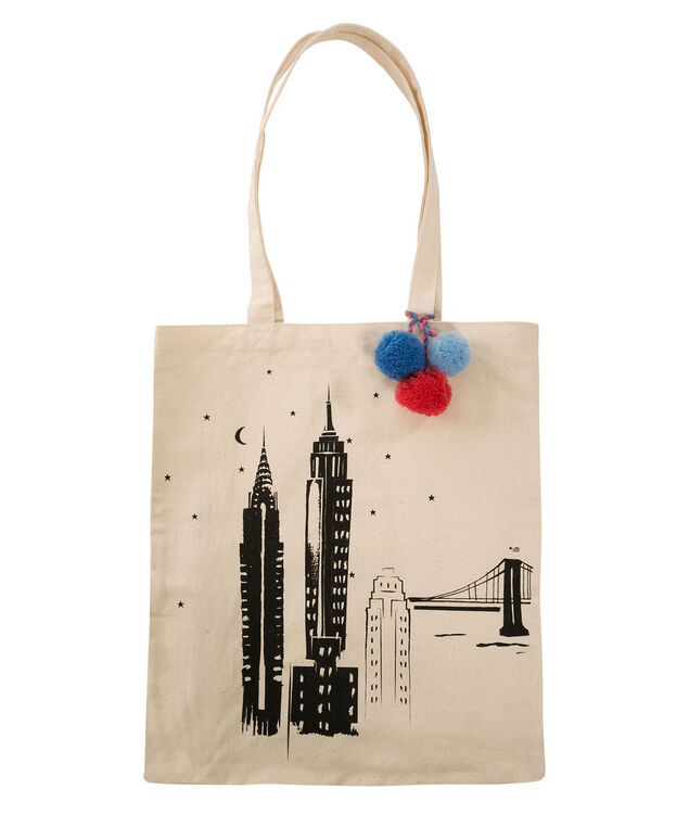 Skyline Reusable Tote Bag, Neutral, hi-res
