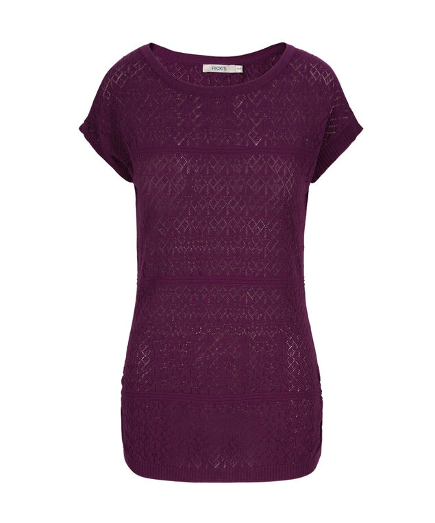 Pointelle Pullover, Ultra Purple, hi-res