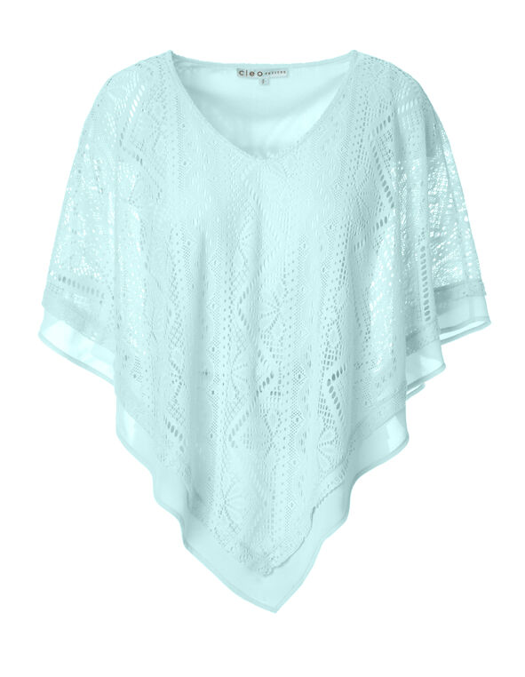 Mint Lace V-Neck Caftan, Mint, hi-res