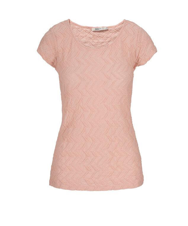 Textured Tee Shirt, Misty Pink, hi-res