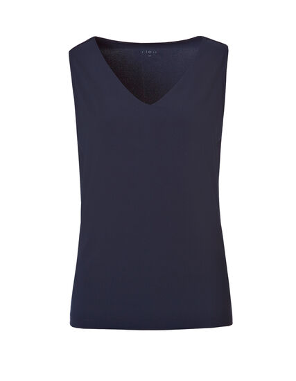 V-Neck Essential Layering Top, Navy, hi-res
