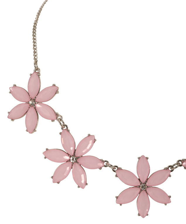Pretty in Pink Statement Necklace, Soft Pink/Rhodium, hi-res
