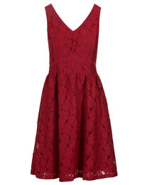 Red Floral Lace Dress