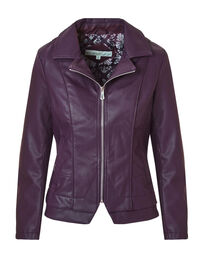 Deep Plum Faux Leather Jacket