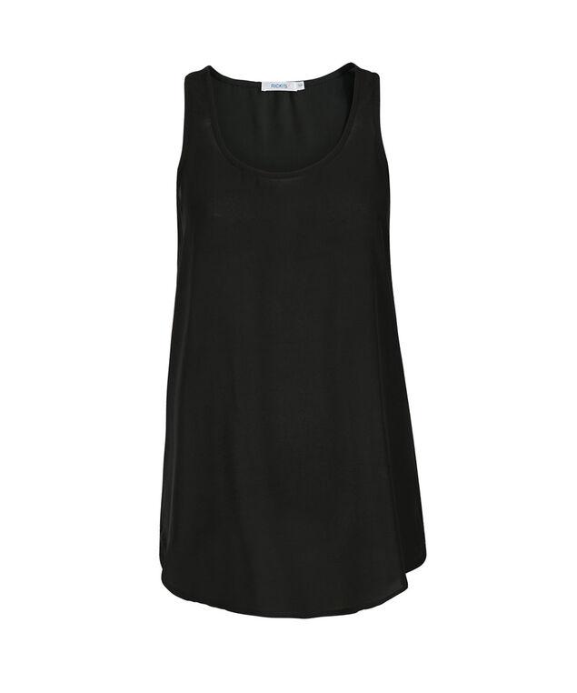 Woven Layering Cami, Black, hi-res