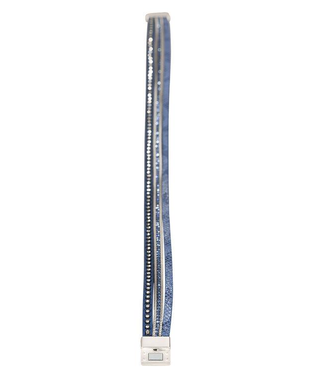 Double Wrap Bracelet, Deep Sapphire/Burnished Silver, hi-res
