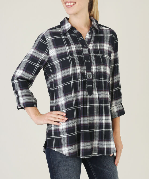 megan, NAVY PLAID, hi-res