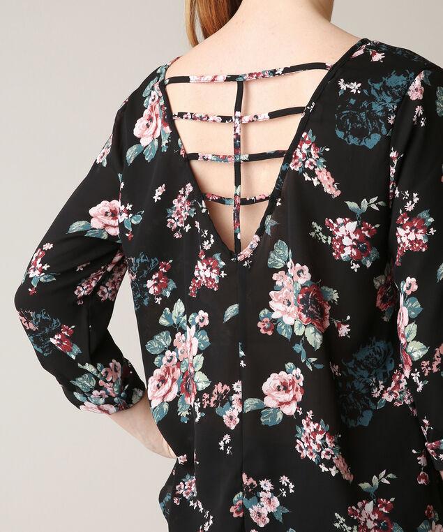 floral blouse, FLORAL, hi-res