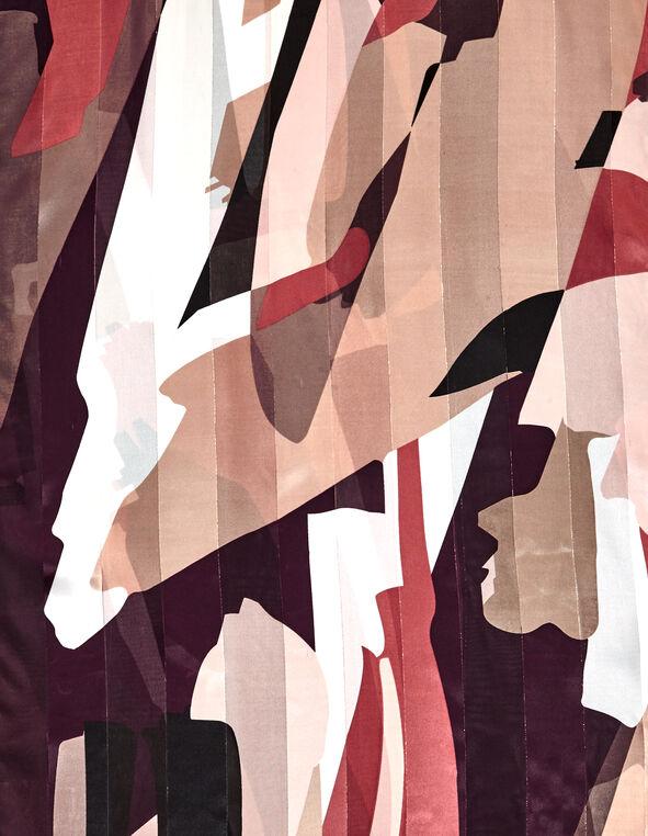 Claret Print Oblong Scarf, Claret/Ivory/Rose Pink/Nude, hi-res