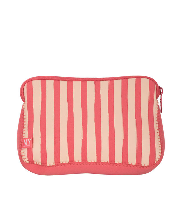 Pink & Gold Cosmetic Case, Pink/White, hi-res