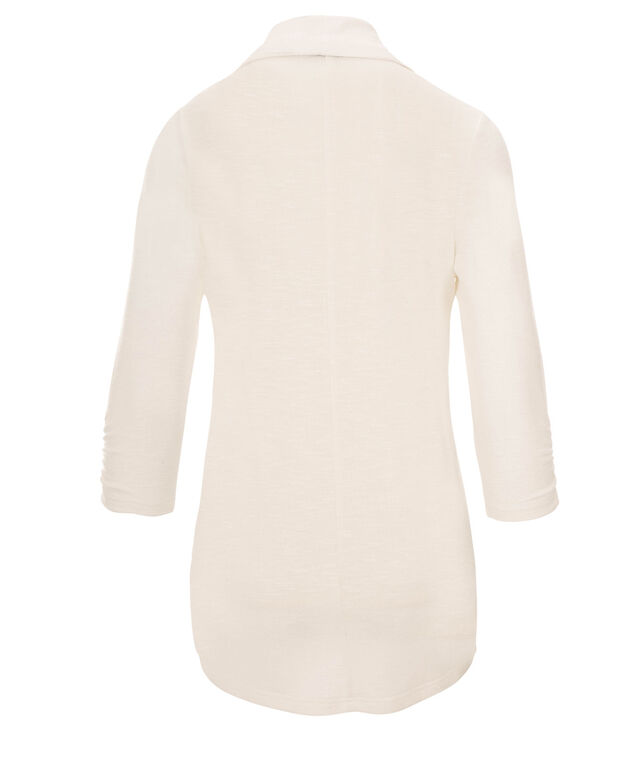 Shawl Collar Cover-Up, Milkshake, hi-res