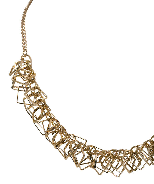 Square Statement Necklace, Soft Gold, hi-res