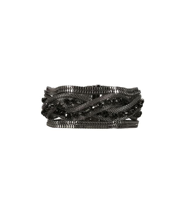 Magnetic Mesh Bracelet, Jet Black/Hematite, hi-res