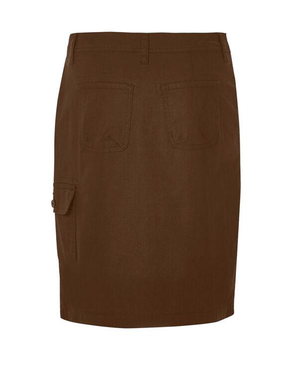 Nutmeg Poplin Cargo Skirt, Nutmeg, hi-res