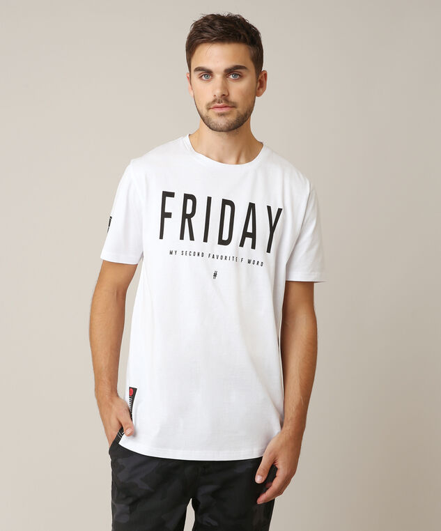friday graphic tee, WHITE, hi-res