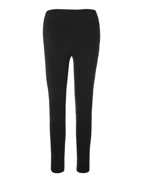 Black Cotton Legging, Black, hi-res
