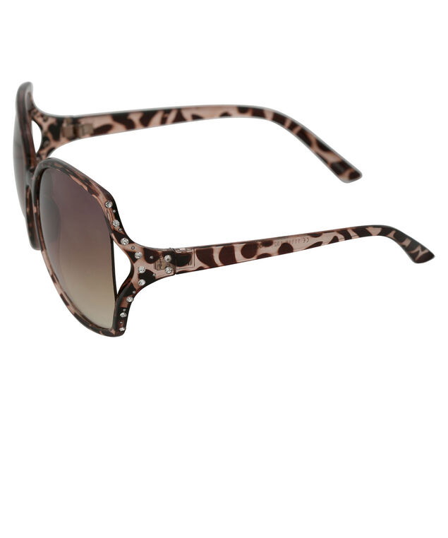 Animal Print Sunglasses, Black, hi-res