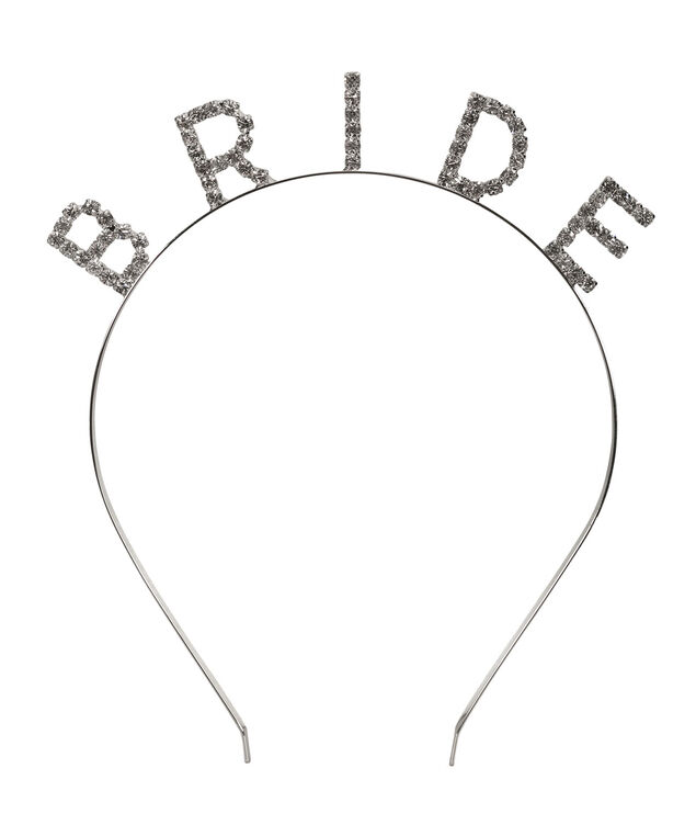 Bride Headband, Rhodium, hi-res