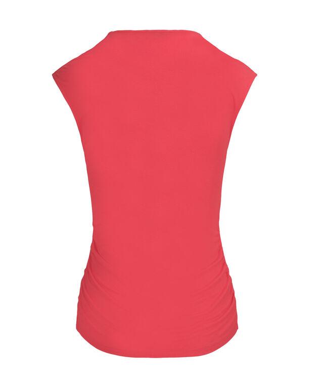 V-Neck Ruched Top, Pink Daiquiri, hi-res
