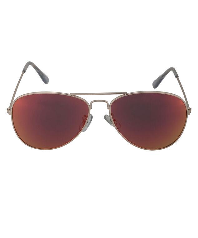Aviator Sunglasses, Red/Gold, hi-res
