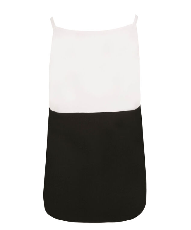 Colourblock Knit Tank, Black/Red/White, hi-res